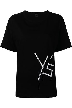 Y'S Women Short Sleeve - Embroidered logo T-shirt