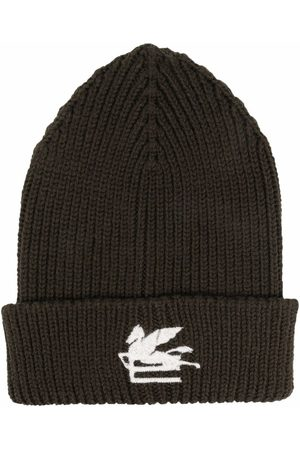 Etro Embroidered-logo knitted beanie