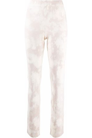 Cotton Citizen Tie-dye pleated flared trousers - Neutrals