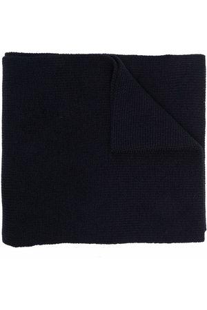 Moncler Logo-patch rib-knit scarf