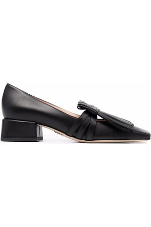 RODO Fringed square-toe loafers