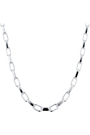 GOLDSMITHS Women Necklaces - Silver Large Flat Oval Link Necklace