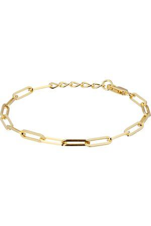 Goldsmiths Women Bracelets - 9ct Yellow Gold Rectangular Full Link Chain Bracelet