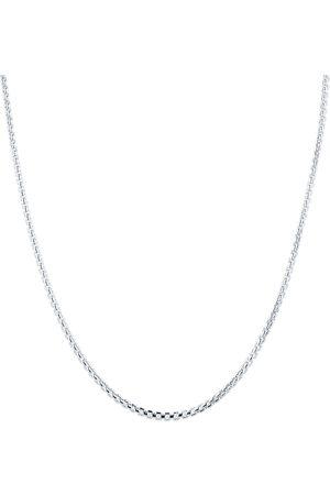 GOLDSMITHS Men Necklaces - Silver Mens Narrow Box Belcher Chain Necklace