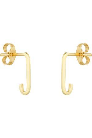 GOLDSMITHS Women Earrings - 9ct Yellow Gold Rectangular Full Link hoop Earrings