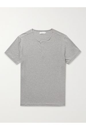 Hamilton and Hare Stretch Lyocell and Cotton-Blend Henley Pyjama T-Shirt