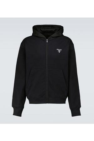 Prada Hooded sweatshirt with Re-Nylon hood