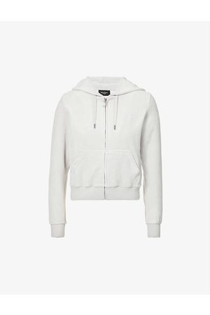 Juicy Couture Brand-embroidered velour hoody