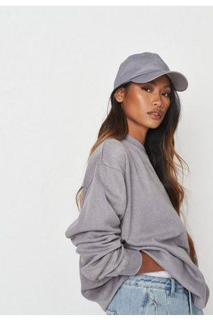 Missguided Washed Fleeceback Basic Sweatshirt
