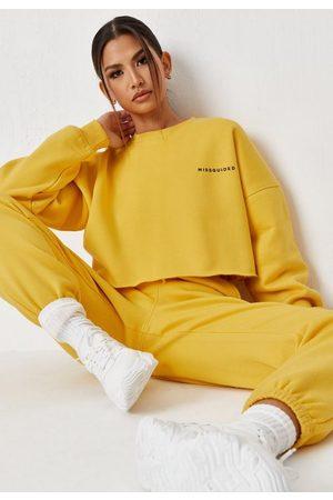 Missguided Fleeceback Oversized Cropped Sweatshirt