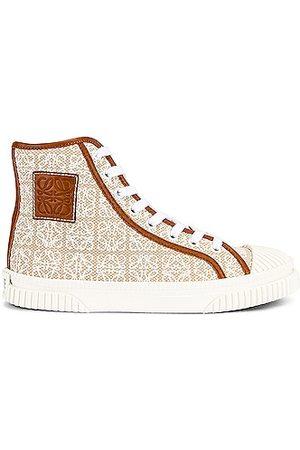Loewe High Top Sneaker in Natural &