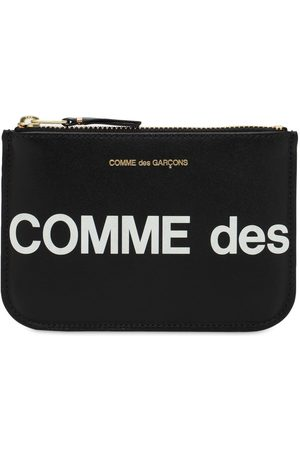COMME DES GARÇONS WALLET Huge Logo Leather Wallet