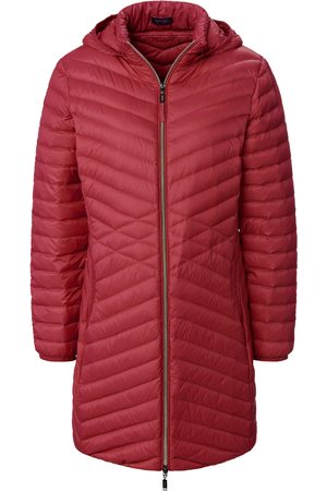 Mybc Women Coats - Long quilted down jacket hood bright size: 10