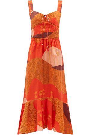 JOHANNA ORTIZ Beloved Woman Abstract-print Organic-cotton Dress - Womens