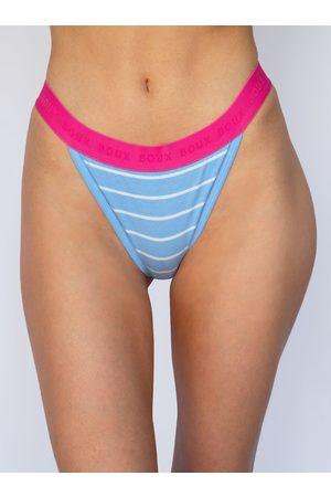 Boux Avenue Stripe high leg cotton boxer thong
