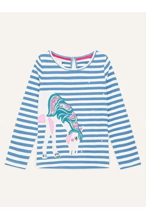 Monsoon Girls S.E.W. Applique Unicorn Top