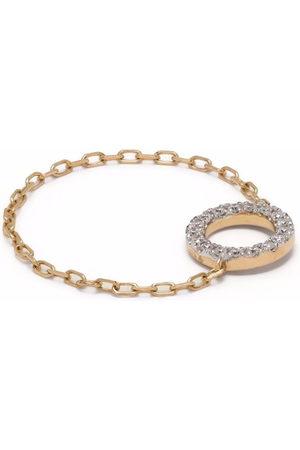 Djula 18kt yellow circle chain diamond ring