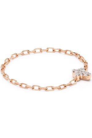 Djula 18kt rose cross chain diamond ring