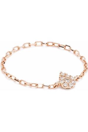 Djula 18kt rose pear chain diamond ring