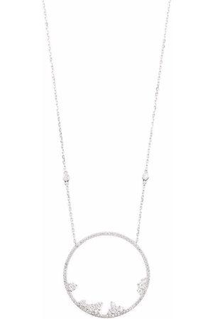 DJULA 18kt white gold circle point diamond necklace