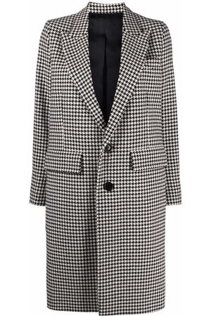AMI Paris Single-breasted houndstooth coat