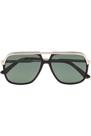 Gucci Web detail navigator-frame sunglasses