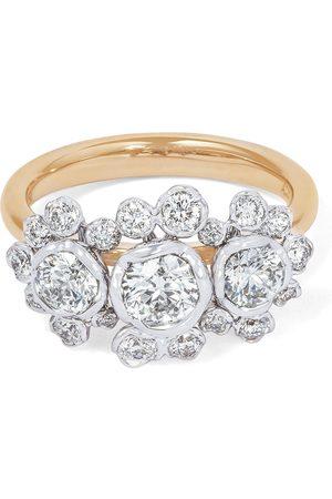 ANNOUSHKA Women Rings - 18kt triple diamond engagement ring