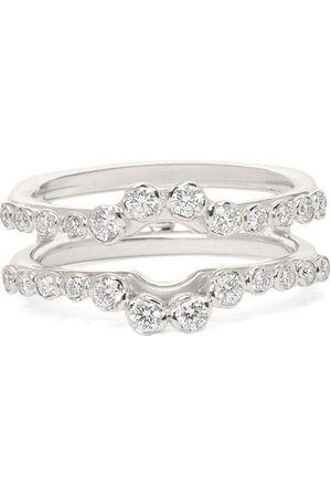 ANNOUSHKA 18kt white gold Marguerite diamond full jacket ring