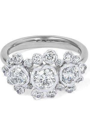 ANNOUSHKA Women Rings - 18kt white gold triple diamond engagement ring