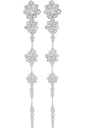 ANNOUSHKA Women Earrings - 18kt white gold Marguerite diamond drop earrings