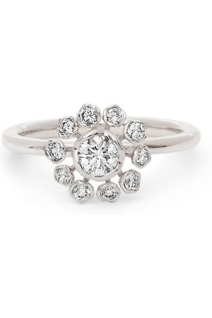 ANNOUSHKA Women Rings - 18kt white gold flower diamond engagement ring