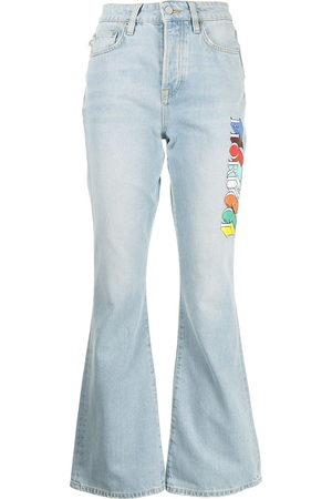 Fiorucci Women Bootcut - Brooke logo-print jeans