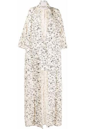 A.N.G.E.L.O. Vintage Cult 1970s floral-print cotton coat - Neutrals