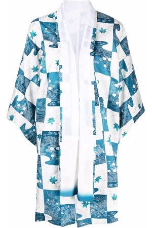 A.N.G.E.L.O. Vintage Cult Women Kimonos - 1970s floral patchwork kimono