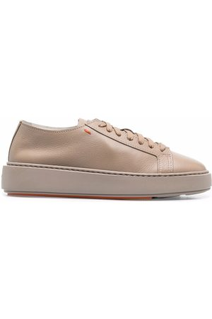 santoni Lace-up leather sneakers