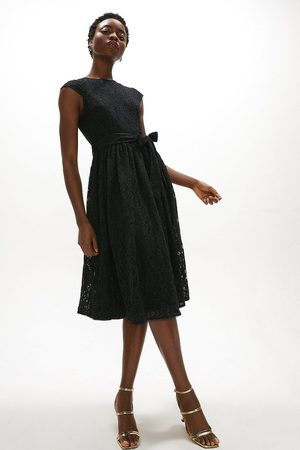 Coast Coast Belted Lace Fit And Flare Dress