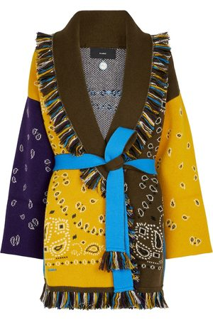 Alanui Bandana jacquard cashmere-blend cardigan