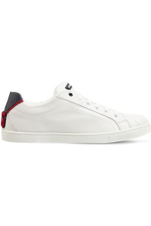 Dolce & Gabbana Logo Patch Leather Lace-up Sneakers