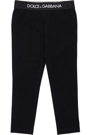 Dolce & Gabbana Logo Print Interlock Cotton Leggings