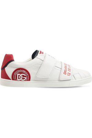 Dolce & Gabbana Boys Trainers - Embellished Leather Strap Sneakers