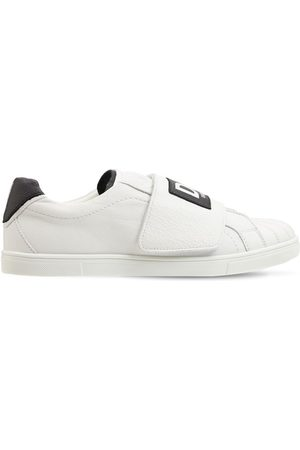Dolce & Gabbana Boys Trainers - Leather Slip-on Sneakers W/ Logo Band