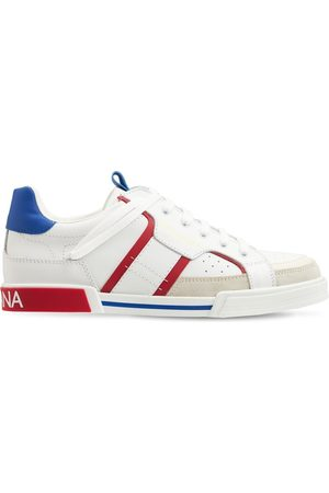 Dolce & Gabbana Boys Trainers - Portofino Lace-up Leather Sneakers