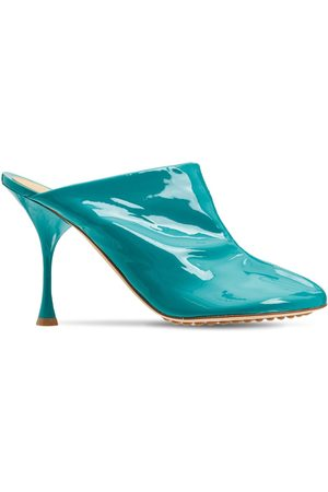 Bottega Veneta Women Sandals - 90mm Dot Patent Leather Sock Mules