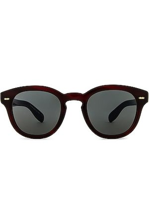 Oliver Peoples Cary Grant Sunglasses in Bordeaux Bark & Carbon