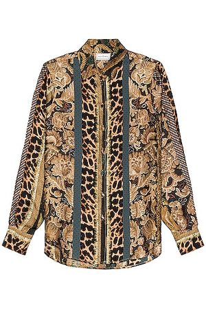 PIERRE-LOUIS MASCIA Aloe Long Sleeve Shirt in Multi