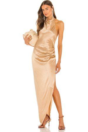 Amanda Uprichard Women Evening Dresses - X REVOLVE Samba Gown in ,Metallic Neutral. Size XS, S, M.
