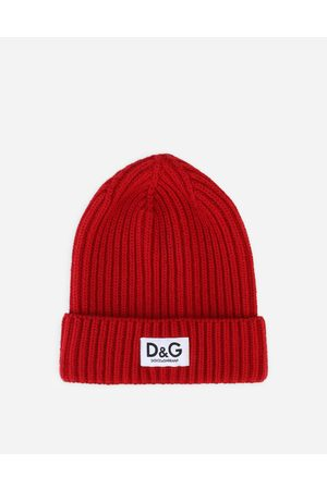 Dolce & Gabbana Sunglasses - Ribbed knit hat with logo label male S