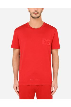 Dolce & Gabbana T-Shirts and Polos - Cotton T-shirt with 3D DG logo male 42