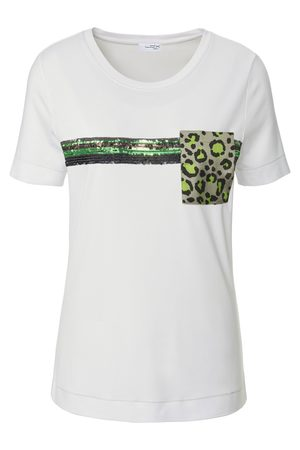 Looxent Round neck top short sleeves size: 10