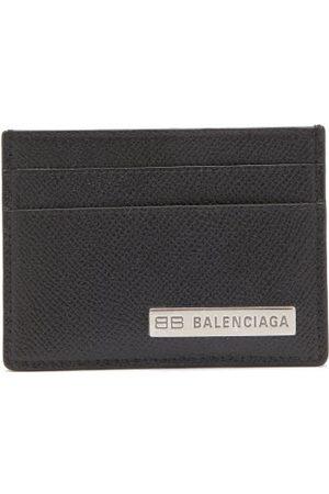 Balenciaga Logo-plaque Grained-leather Cardholder - Mens